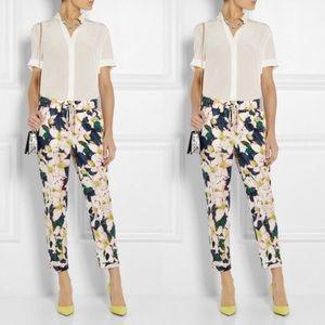 J Crew NWT floral drapey drawstring pants 🌺